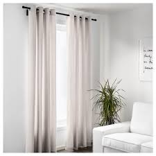 Beige And White Curtains Merete Curtains 1 Pair 57x98 Ikea