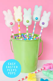 Decorating Easter Cake With Peeps by Easter Peeps Pops Love From The Oven