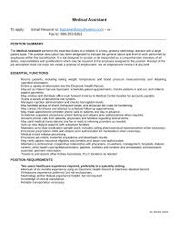 Medical Assistant Resume Example by Functional Medical Assistant Resume Template