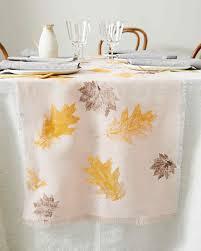 Leaf Table Runner Leaf Stamped Table Runner Martha Stewart