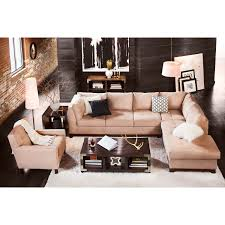 soho 2 piece sectional with right facing chaise and chair