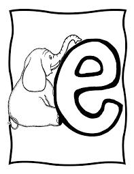 lowercase e colouring pages lower case e coloring page pages