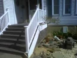 rebuilt entry stairs w composite tread and risers youtube