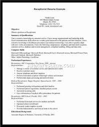 medical receptionist responsibilities resume descriptions sample