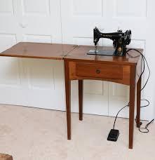 Vintage Singer Sewing Machine Cabinet Vintage Singer Sewing Machine In Walnut Cabinet Ebth