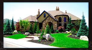 Mountain Landscaping Ideas Evergreen Trees A Few Shrubs Boulders And Mulch Don U0027t Need To