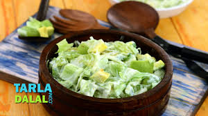 green salad with honey and curd dressing low cholesterol