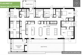 4 bedroom home plans simple one story 4 bedroom house plans nrtradiant