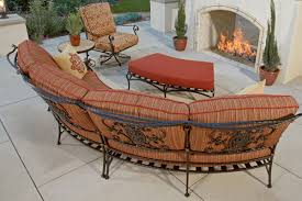 Curved Modular Outdoor Seating by Mhc Outdoor Living