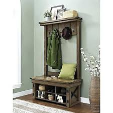 office storage bench entryway hall tree with storage bench home
