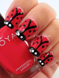 i feel polished ladybug nails