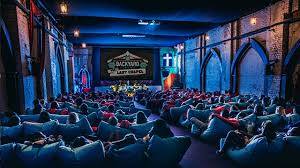 Backyard Movie Theatre by The Last Chapel Backyard Cinema