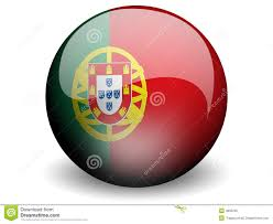 Portugal Football Flag Round Flag Of Portugal Stock Illustration Illustration Of