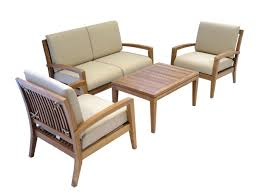 amazon com ohana teak patio furniture 4 seater conversation set