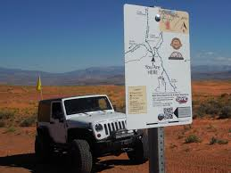 jeep utah sand mountain gets a cleanup new u0027you are here u0027 signs for safety