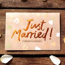 just married cards just married copper congratulations card by