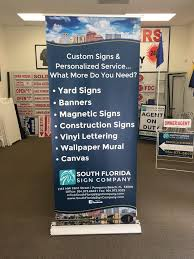 south florida sign company retractable banner stand