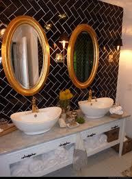 dear genevieve black white and gold bathroom bathroom pinterest