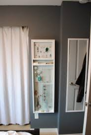 Wall Mount Jewelry Cabinet Furniture Cool Wall Mount Jewelry Armoire For Contemporary Family