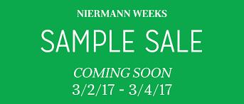 Save The Date Website Save The Date Niermann Weeks Sample Sale 2017 Niermann Weeks
