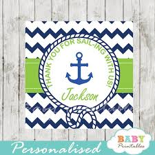 anchor baby shower navy green nautical anchor baby shower square labels d195