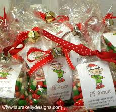 whip up a sweet batch of elf snacks with gift tags