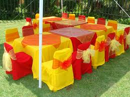 yellow chair covers and yellow kids table cloths overlays chair covers and