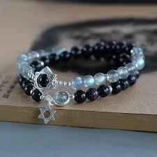 bracelet handmade jewelry images Moonstone blue sandstone sterling silver beaded bracelet handmade jpg