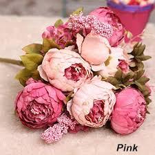 silk flowers wholesale wholesale 100pcs 8 heads bunch large peony bouquet vintage