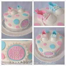 pink and blue baby shower cakes party xyz