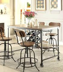 pub table with wine rack bar height pub table high bar table counter height pub bar table