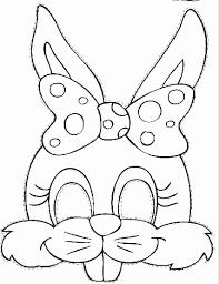 bunny mask rabbit mask template meklēš dekori
