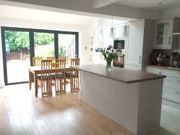 kitchen diner flooring ideas kitchen extension with bifold doors and vaulted roof with velux