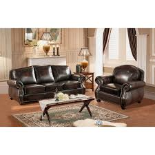 leather sofa with nailheads amax leather c9701sc2889ls hyde 100 leather sofa u0026 armchair in