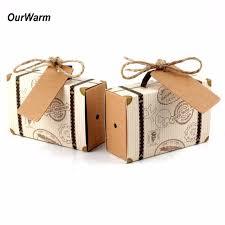 wedding boxes ourwarm 10pcs wedding favor chocolate boxes vintage mini suitcase