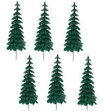 fir tree set of 6