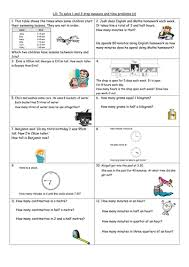 1 and 2 step time and measure problems y4 by clangercrazy