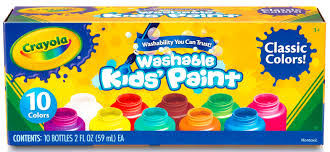 crayola washable kids u0027 paint 10 count walmart com