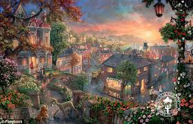 artist kinkade s signature shows up on new paintings nearly