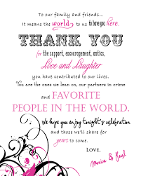 Sayings For Wedding Wedding Thank You Sayings Welcome U0026 Thank You Photo Thank
