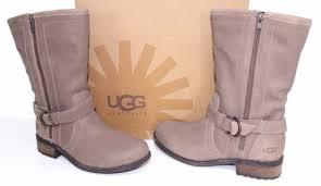 womens ugg biker boots ugg australia 1005435 7 silva uggs leather biker boots brown