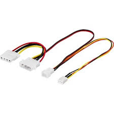 4 pin molex female connector to 7 pin fan connector wire harness