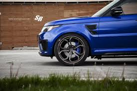 black land rover with black rims range rover sport svr on pur wheels british swag autoevolution