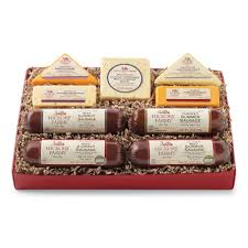 summer sausage gift basket hickory farms deluxe sausage cheese gift box