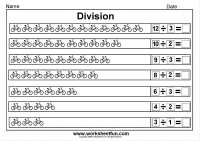 introduction to division worksheets u0026 division sharing equally