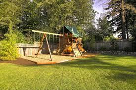 swing backyard play area backyard play area ideas super fun