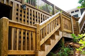 Home Handrails Wood Deck Steps Stock Image Image Of Calm Home Handrails 5582851