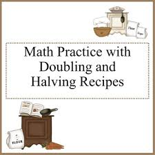 doubling and halving recipes worksheets by debbie madson tpt