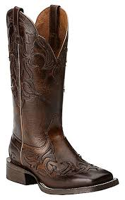 womens size 11 square toe cowboy boots ariat s cassidy mahogany with weathered buckskin top square