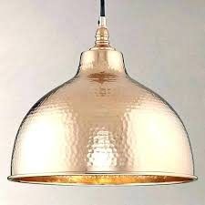 Cone Pendant Light Hammered Copper Pendant Lights S S Hammered Copper Cone Pendant